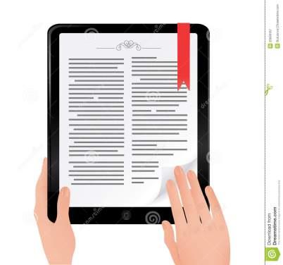 livre-de-relevé-sur-la-tablette-d-ordinateur-d-ipad-20846167